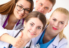 Confident team of young doctors willing to work Stock Photos
