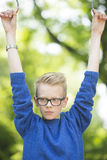 Confident teenager boy outdoor portrait Royalty Free Stock Photos