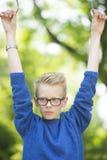 Confident teenager boy outdoor portrait Royalty Free Stock Photos