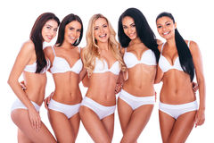 Confident in their perfect bodies. Royalty Free Stock Photo