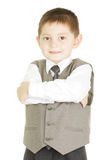 Confident tidy kid Royalty Free Stock Images