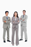 Confident tradesteam with arms folded Royalty Free Stock Image