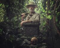 Free Confident Vintage Style Adventurer Exploring The Jungle Stock Photography - 210289292