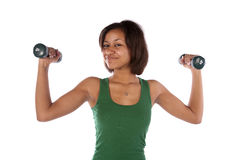 Confident weights Royalty Free Stock Image
