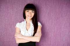 Confident woman with arms crossed Stock Photos