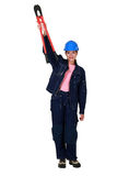 Confident woman with boltcutters Stock Photos