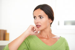 Confident woman in contemplation looking away Royalty Free Stock Images