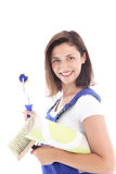 Confident woman decorator Royalty Free Stock Images