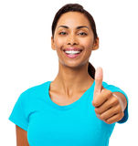 Confident Woman Gesturing Thumbs Up Royalty Free Stock Photo