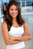 Confident woman at the gym Royalty Free Stock Photos