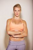 Confident Woman in Her Gym Outfit royalty free stock images