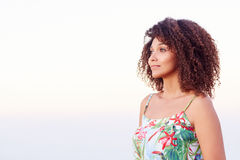Confident woman looking away outdoors Stock Image