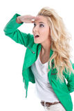 Confident woman looks away Royalty Free Stock Photography