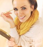 Confident Woman Putting Makeup On Royalty Free Stock Photo