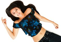 Confident woman smiling Stock Photo