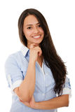 Confident woman smiling Royalty Free Stock Image