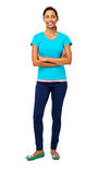 Confident Woman Standing Arms Crossed Stock Images