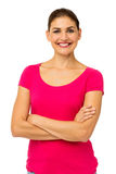 Confident Woman Standing Arms Crossed Royalty Free Stock Photo