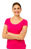 Confident Woman Standing Arms Crossed Royalty Free Stock Images
