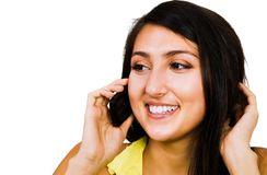 Confident woman talking on mobile Royalty Free Stock Photography