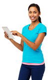 Confident Woman Using Digital Tablet Stock Image
