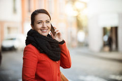Confident woman walking in the city Stock Photo