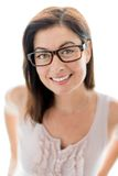 Confident woman  wearing stylish glasses Royalty Free Stock Images