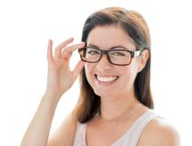 Confident woman  wearing stylish glasses Stock Photography