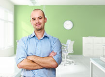 Confident worker in office Royalty Free Stock Images