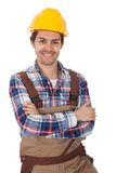 Confident worker wearing hard hat Royalty Free Stock Image
