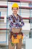 Confident worker wearing toolbelt Stock Photos