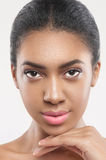 Confident young african woman with pretty appearance Stock Images