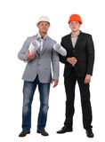 Confident young architectural team Royalty Free Stock Photos