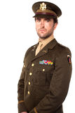 Confident young army man Royalty Free Stock Image