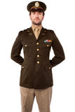 Confident young army man Stock Photography