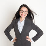 Confident young Asian business woman Stock Images