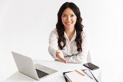 Confident young asian woman stock image