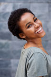 Confident young black woman smiling Stock Photography