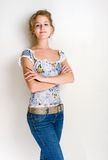 Confident young blond woman. Royalty Free Stock Photos