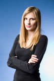 Confident young blond woman. Royalty Free Stock Images