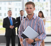 Confident young business executive stock image