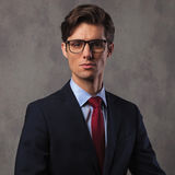 Confident young business man wearing glasses Stock Photography