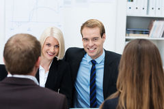 Confident young business team Royalty Free Stock Photo