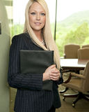Confident young business woman royalty free stock photography