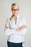 Confident young business woman. Royalty Free Stock Photography