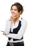 Confident young business woman smiling Stock Image