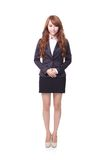 Confident young business woman standing Stock Images