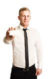 Confident young businessman. Stock Image