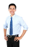 Confident young businessman looking at camera Stock Photo
