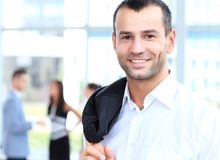 Confident young businessman, smiling happy Stock Photo